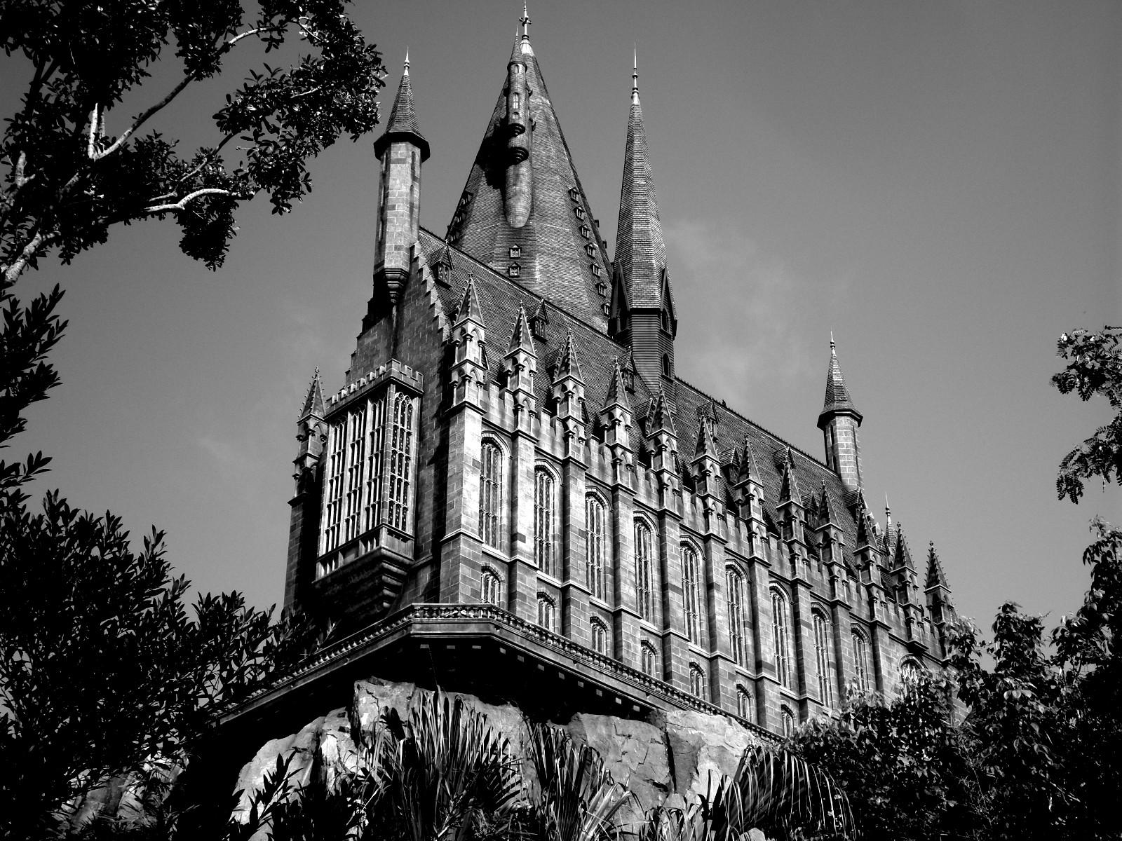 Hogwarts B&W